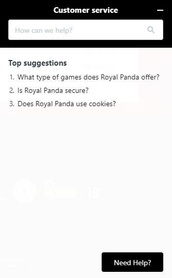 royal panda support