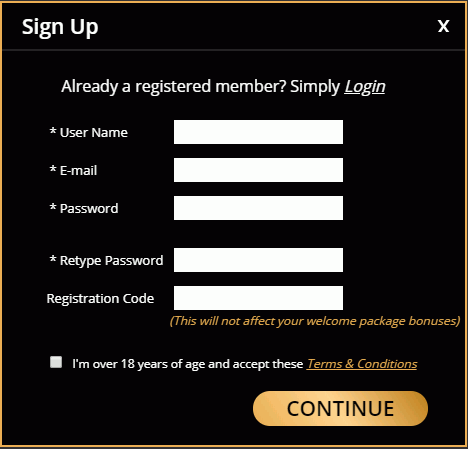 don's casino signup and login