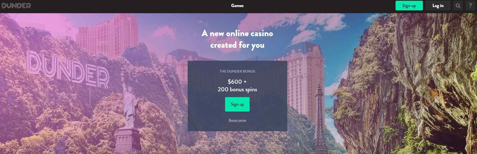 Dunder Casino Ca 600 Bonus 200 Free Spins Mapleslot