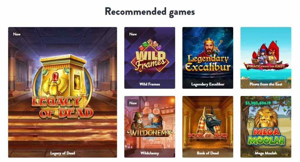 dunder casino games