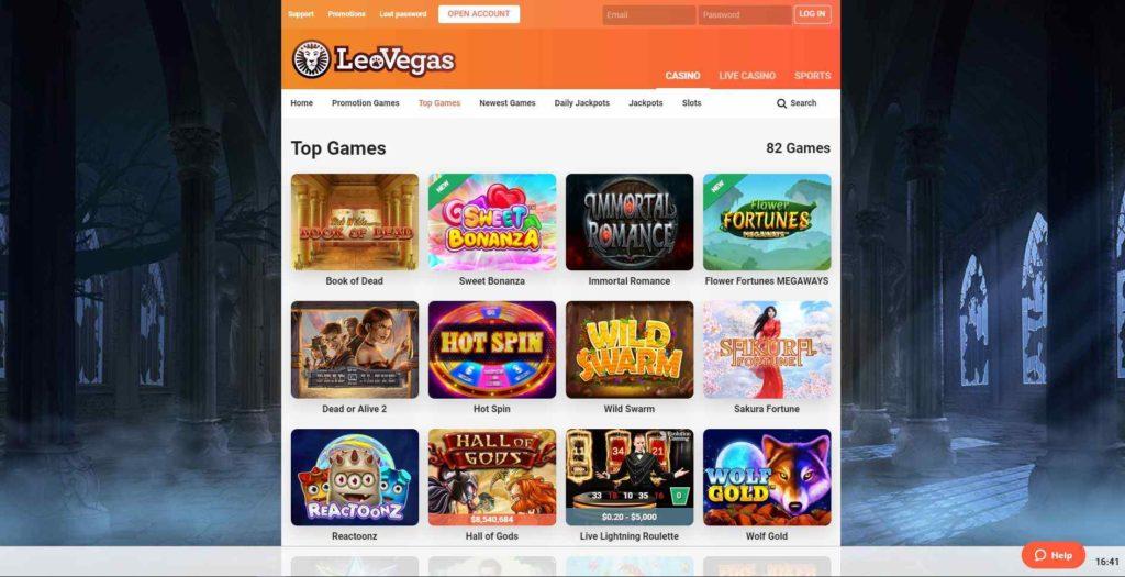 leovegas casino games