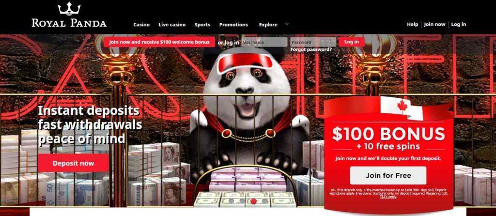 royal panda casino free spins