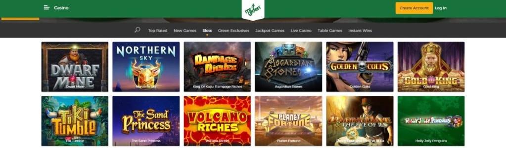 mister green casino jackpots