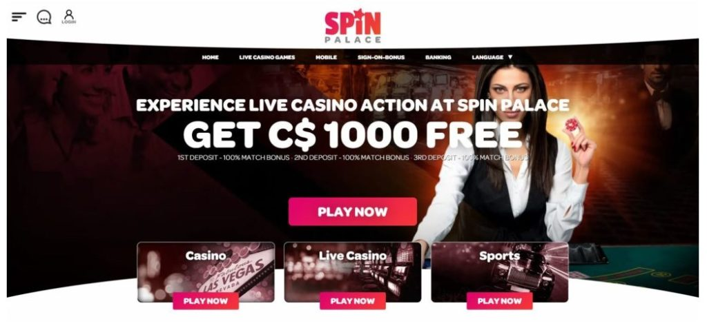 casino spin palace live