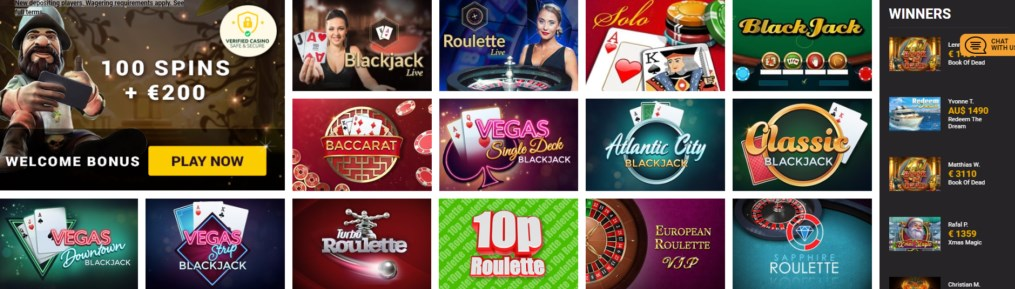 winner's magic casino games