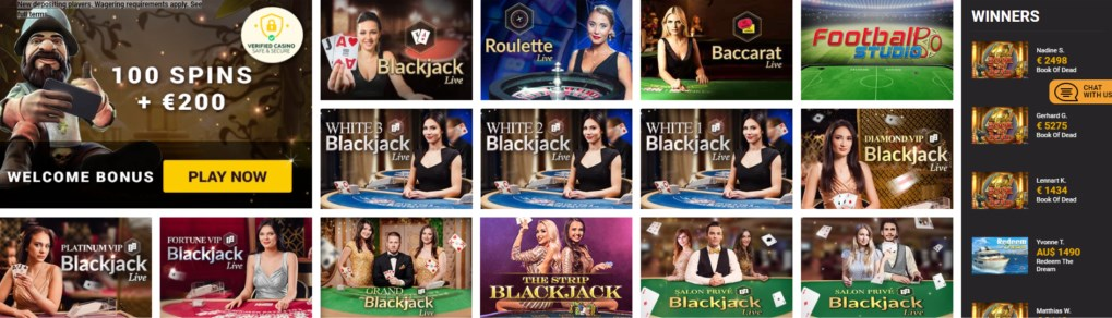winners magic live casino