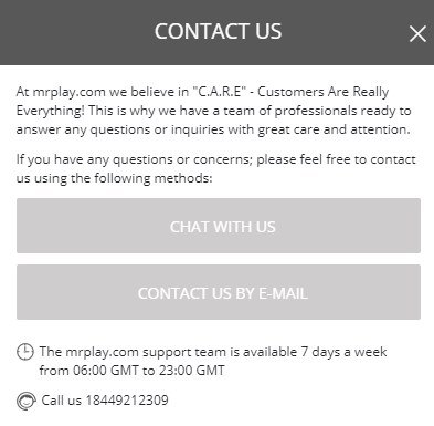 mr. play casino contact