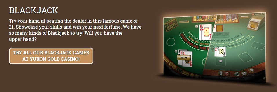 yukon gold casino blackjack