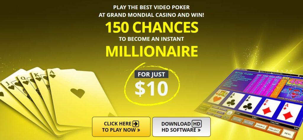 grand mondial video poker