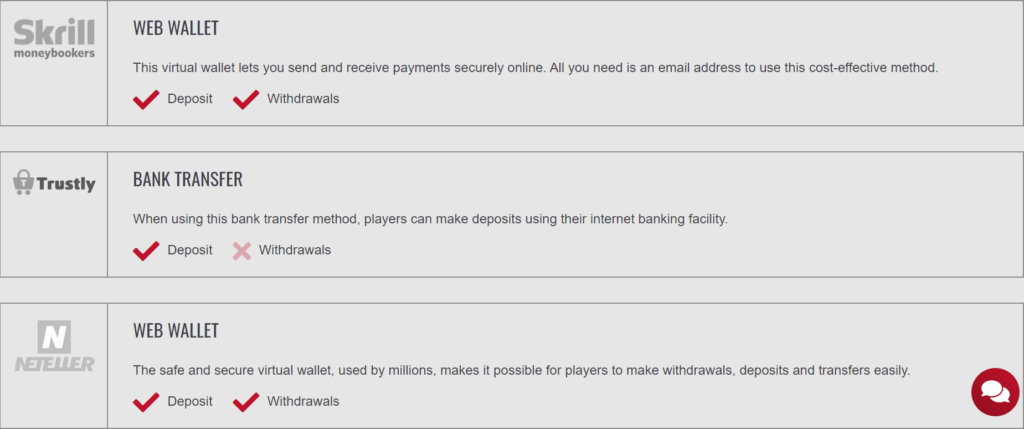Platinum Play Casino - Screenshot