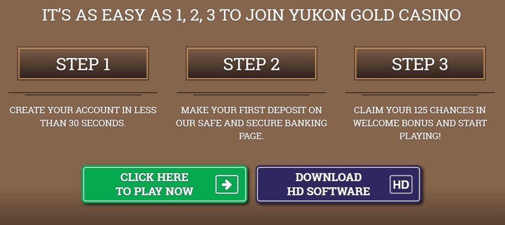 Yukon Gold casino bonus