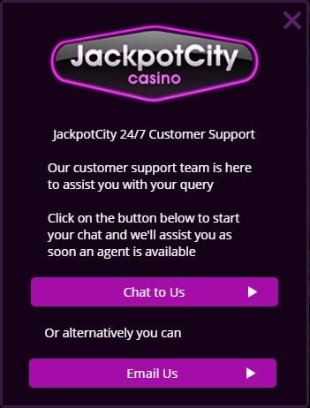 jackpot city support