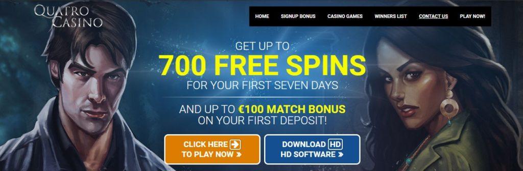 quatro casino bonus