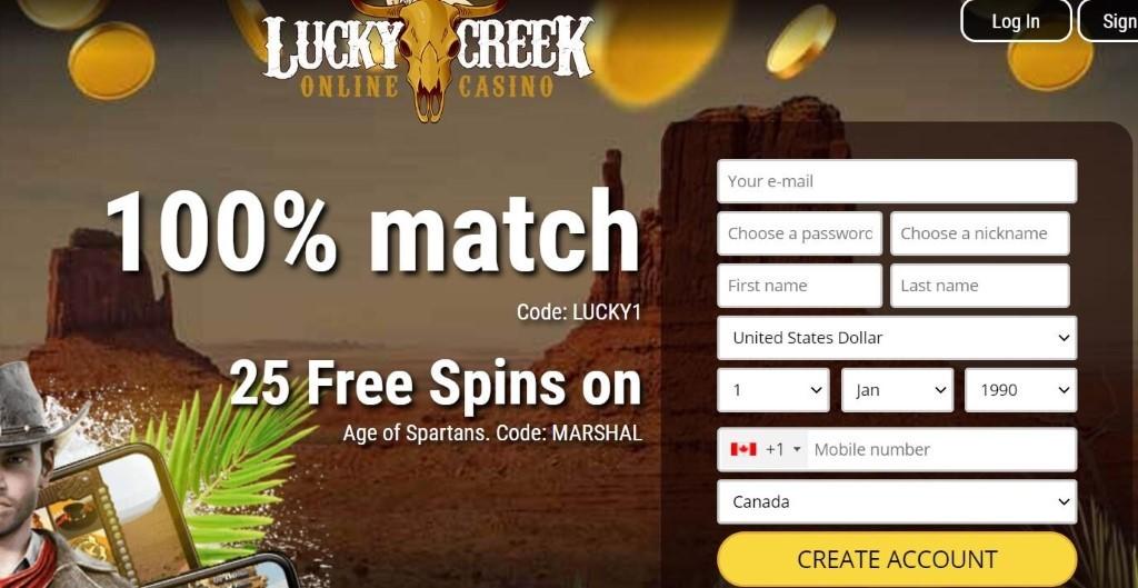 lucky creek bonus